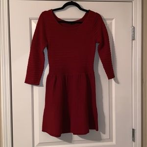 Red sweater dress, perfect for christmas